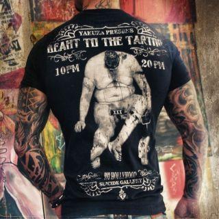 Yakuza Herren T Shirt TS 10 schwarz Rundhals neu Men Shirt