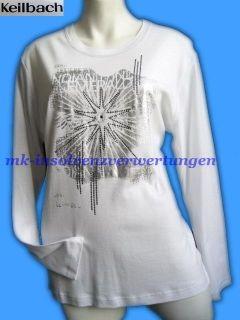 Collection Langarm Druck Shirt 46/48 weiß/silber 109