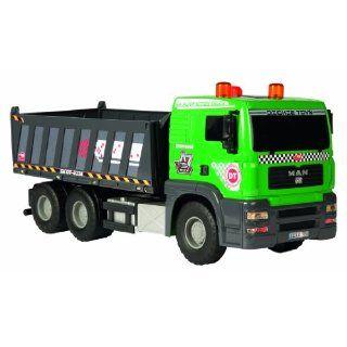 Pump Action Dump Truck, 55 cm, grau/grün Spielzeug
