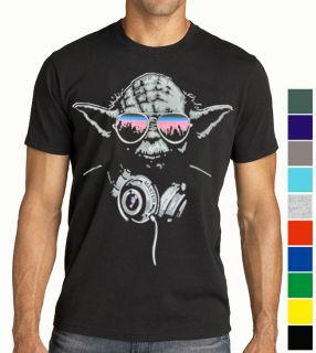 DJ YODA Turntables T Shirt Star Wars Trance Rave S   M L XL XXL