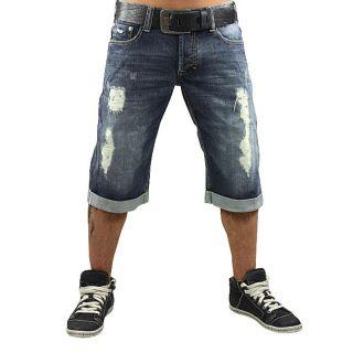 MONOPOL Jeans Shorts BS103 destroyed dust W30 40 MOD blau Short