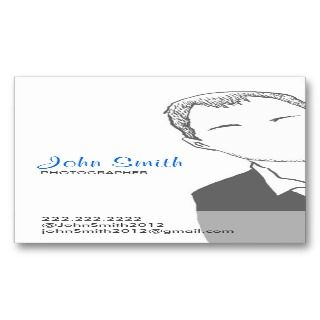 Simple Male short hair Portrait Profile Card Business Card