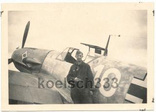 Bf 109 Jagdflugzeug JG 53 Pik As Kennung Flugzeug Me 109 Fr.