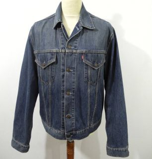 LEVIS TWO POCKET JEANS JACKE 70500 BLUE Gr.XXL (D109)