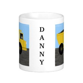 Danny Dump Truck Personalized Name Mug