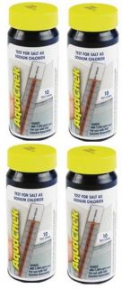 AQUACHEK White Swimming Pool Spa Test Strips Salt Four
