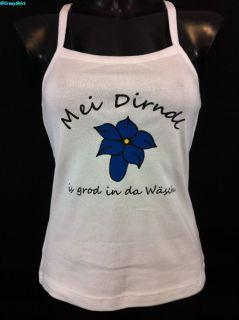 TankTop Mei Dirndl is grod in da Wäsch Shirt Top NEU