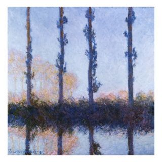 Poplars (1891) Giclee Print by Claude Monet