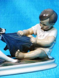 Royal Copenhagen Dahl Jensen Junge mit Hund Figur Figure Figurine