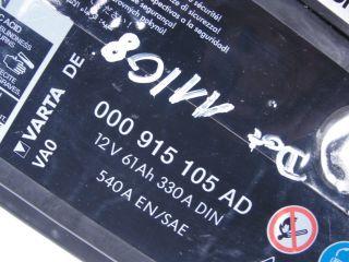VW Jetta Golf Batterie 61 Ah 330 A 000 915 105 AD