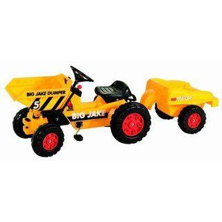 BIG 56520   Jake Dumper mit Anhänger, gelb Spielzeug