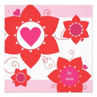 Cute Valentines Day Party Invitation invitation