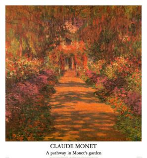 Pathway in Monets Garden Prints by Claude Monet