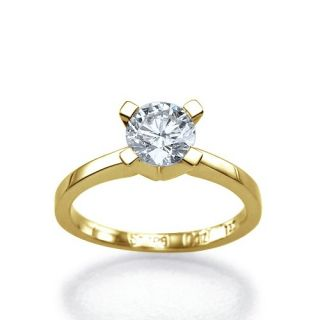 22 Carat D/SI2 Diamantring Brillant 14kt 585 Weißgold Solitar Ring