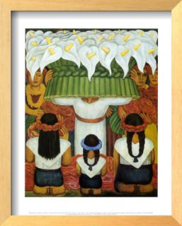 Flower Festival: Feast of Santa Anita, 1931 Print by Diego Rivera