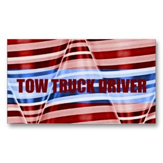Tow Truck Driver Patriotic Business Card