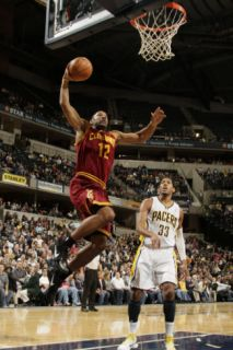 Cleveland Cavaliers v Indiana Pacers Joey Graham and Danny Granger Photographic Print by Ron Hoskins