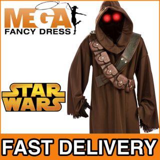 Erwachsenen Kostüm Outfit Star Wars Jawa Mit Maske Leuchtenden Augen