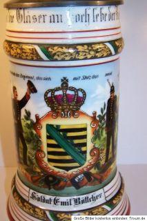Reservistenkrug ZWICKAU Sachsen 133 Inf Reg 133 Inft. Reg. Rgt. Kgl