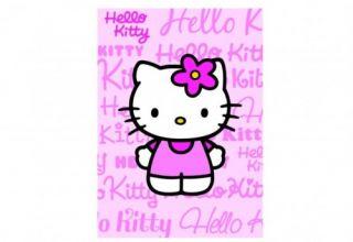 Kinderteppich Hello Kitty Teppich rosa pink 95x133 cm