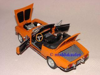 FIAT SPIDER 124 BS Cabrio PLATIN COLLECTION orange Neu 118 SUN STAR