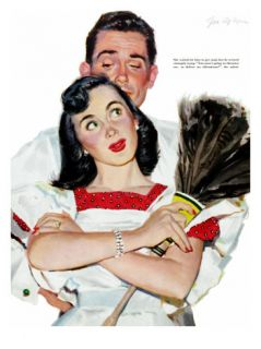 Wife in Revolt   Saturday Evening Post Leading Ladies, March 22, 1952 pg.24 Giclee Print by Joe deMers