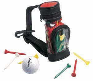 Mini Golf Bag mit Tees, Pitchinggabel und Golfball Sport