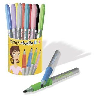 BIC Deutschland Marking Color Permanent Marker Set mit Rundspitze 10