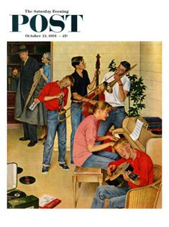 Jam Session Saturday Evening Post Cover, October 23, 1954 Giclee Print by John Falter
