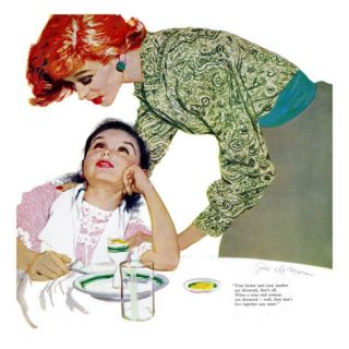 I Love You, Mama Girl, A   Saturday Evening Post Leading Ladies, March 31, 1956 pg.23 Giclee Print by Joe deMers