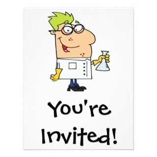 nerd cartoon character personalized announcement