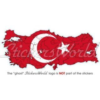 TÜRKEI LandKarte Flagge TÜRKISCH Türkiye Fahne Vinyl Sticker