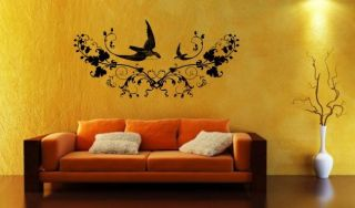 XXL Wandtattoo Vogel 95x200m Wandsticker Tattoo Wand Aufkleber Sticker
