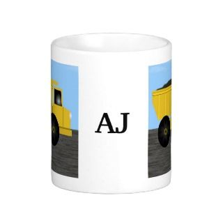 Dump Truck Personalized Name Mug