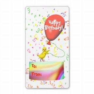 Happy Birthday Chicken For Kids Gift Tag Shipping Labels