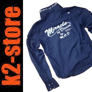 WOF MS141   Dunkelblau   Langarm Hemd Shirt   Neu   Gr. S M XL