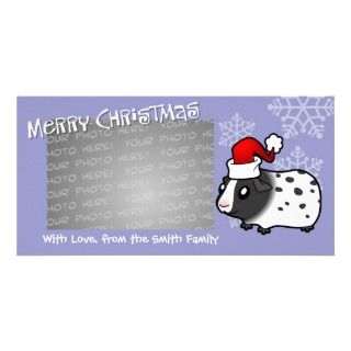 Christmas Guinea Pig (dalmatian) Photo Greeting Card