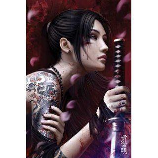 Wibisono Mario Purgatory Comic Poster Girl Sword Samurai Tattoo Japan