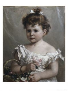 Helene Loeb Lyon as a Young Girl Giclee Print by Paul Merwart at
