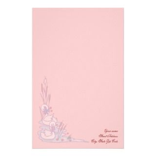 Valentines Swan Love Stationery
