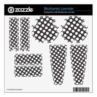 Polka Dots Pattern   black and white Skullcandy Lowrider Skin