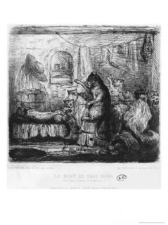 Death of Cat Murr, Die Lebensansichten Des Katers Murr by Ernst Theodor Amadeus Hoffmann Giclee Print by King Of Portugal Fernando II