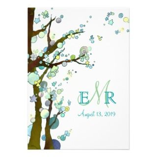 invitations this lyrical and nocturnal tree themed wedding invitation