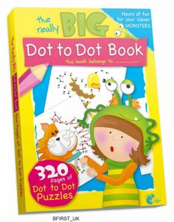 320 PAGES KIDS DOT TO DOT PUZZLES BOOK GIANT REALLY BIG