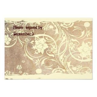 Shabby Parchment Wedding Invitation
