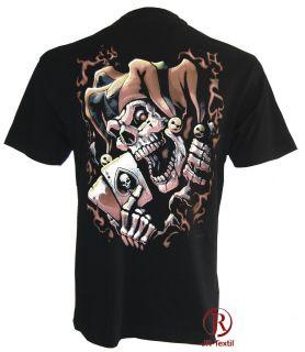 Fantasy Skull Jester Polo Größe M   5XL