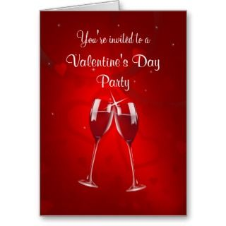 Valentines Day Party Invitation   Greeting Card