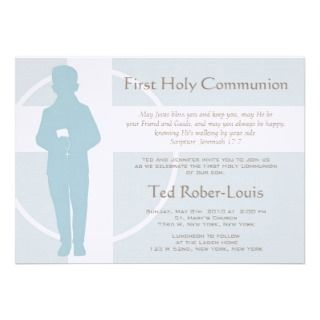 First Communion and Announcement   Boy invitation