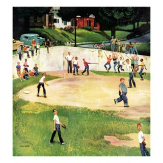 Sandlot Homerun, July 6, 1957 Giclee Print by John Falter