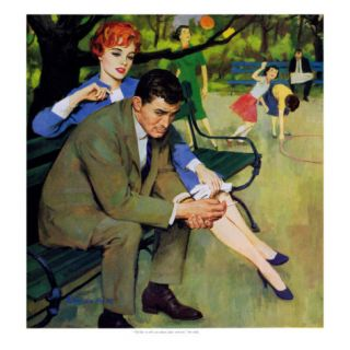Hand Me Down Girl   Saturday Evening Post Men at the Top, May 2, 1959 pg.32 Giclee Print by Morgan Kane